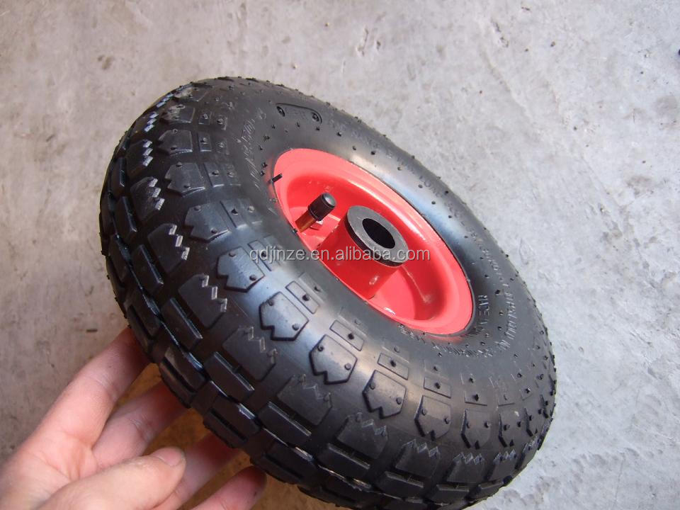 3.00-4 small rubber wheel with tire and rims