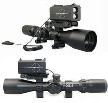 Hot selling new version range finder 700m continuous ranging +angle laser infrared rifle scope with adjustable base