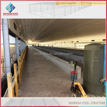 Economic prefabricated steel frame houses design for chicken farming shed