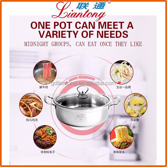 Mega March Sourcing cookware stainless steel cooking pot non stick casserole pot with handles