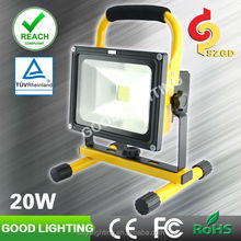 20W IP65 portable flood lights led rechargeable lantern with CE ROHS certificates