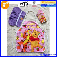FUNNY BEAR APRON , KIDS APRON SET , KIDS PLAYING CLEANING SET
