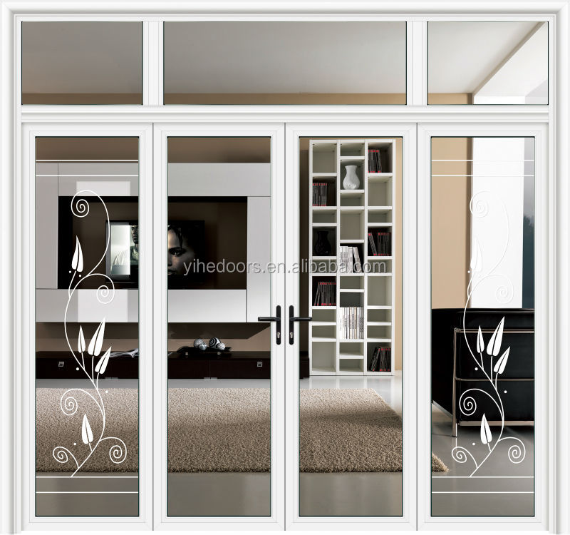 China Supplier And Best Price Aluminum Alloy Glass Swing Door Bathroom Interi