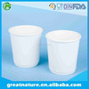Waxed cool beverage paper cup