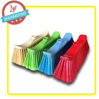 Factory direct sale PET plastic home floor broom wothout long handle