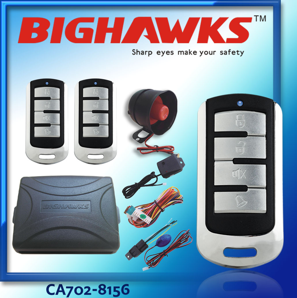 new Bighawks CA702-8156 Remote control one way car alarm k9 with siren cheapest auto car alarm system for south America
