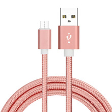 Factory Price metal head nylon braider 2A super fast micro usb 2.0 data sync charging cable for samsung s4 s6