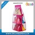Encai High Quality Hanging Storage Bag For Handbags With PVC Window