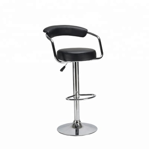 Wholesale modern height adjustable Stainless Steel bar chair with footrest