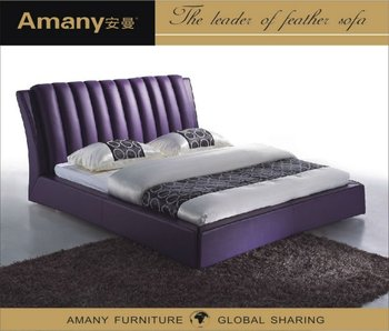 Luxury dubai bed furniture T1109P-Purple