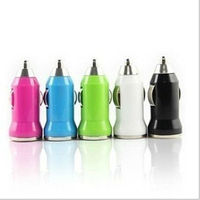 Mini Colorful USB port Car Charger for cell phone