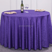 Luxury Table Linen,Round Decorative Table Cover,Jacquard Table Linens For Sale