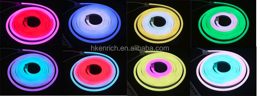 Easy Installation 5050 24V Flexible Chasing Neon Light for building decoration