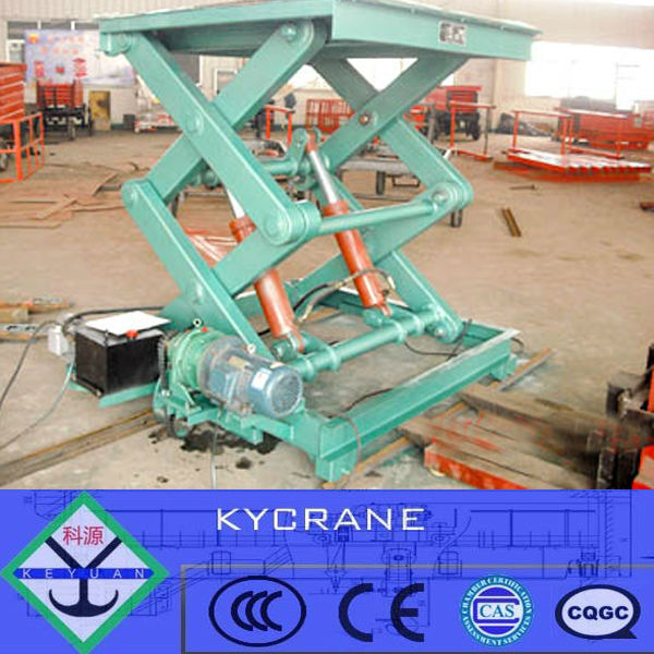 Motorcycle stationary hydraulic scissor lift table 1ton