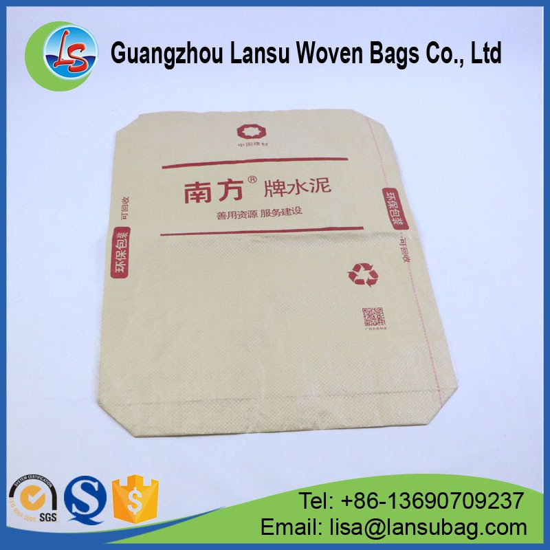 factory sale plastic pp woven cement bag for 50kg cement with valve port