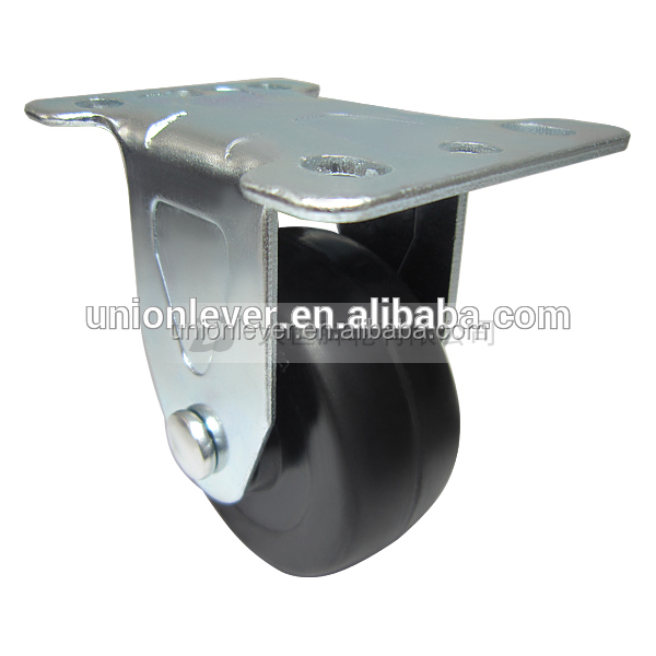 Rigid 3 inch solid small rubber wheels plate type horse carriage solid rubber wheels casters