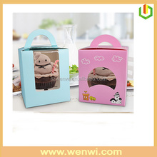 Best price decorative cup cake box with window