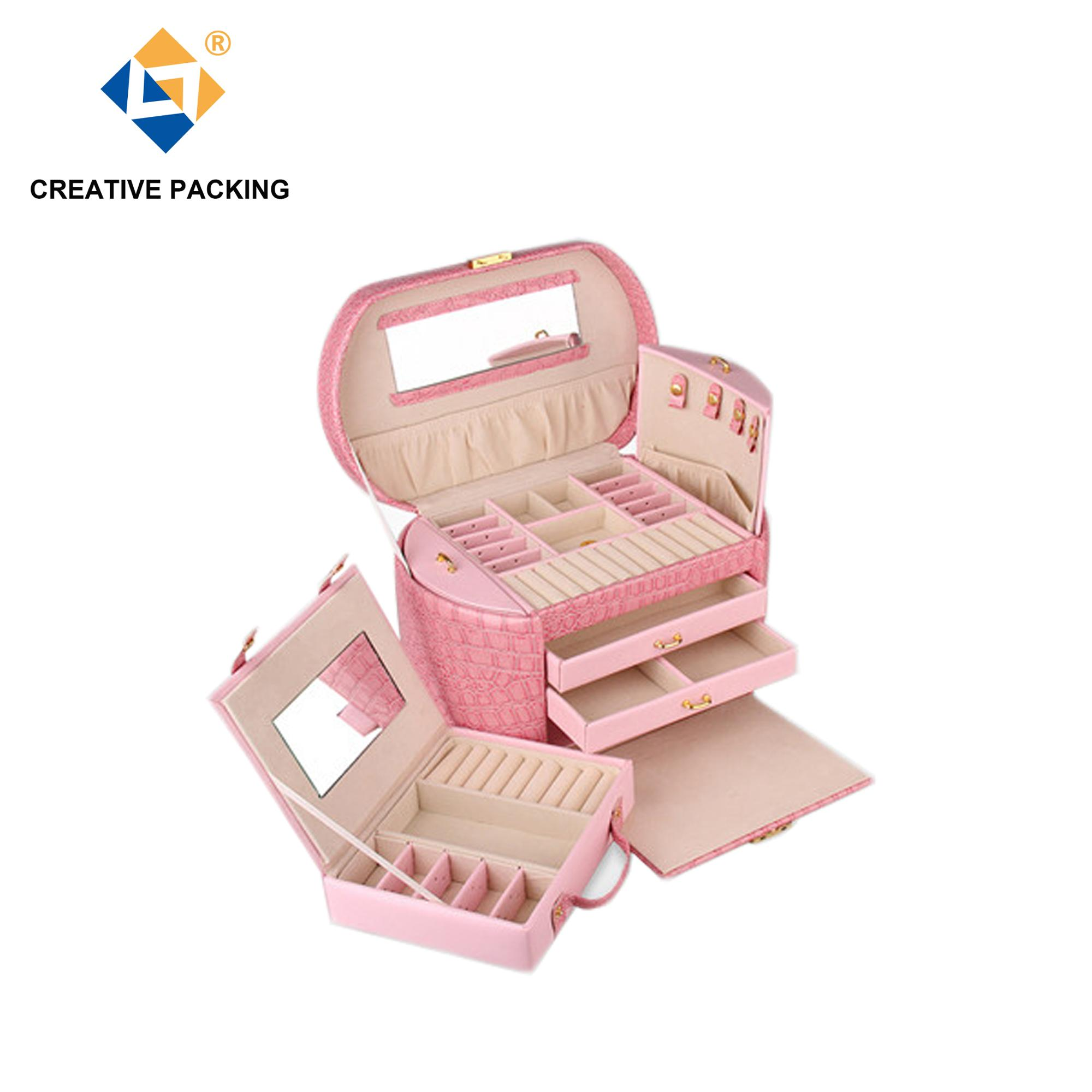 Factory Wholesale Custom Made Pu Leather Jewelry Packaging Box