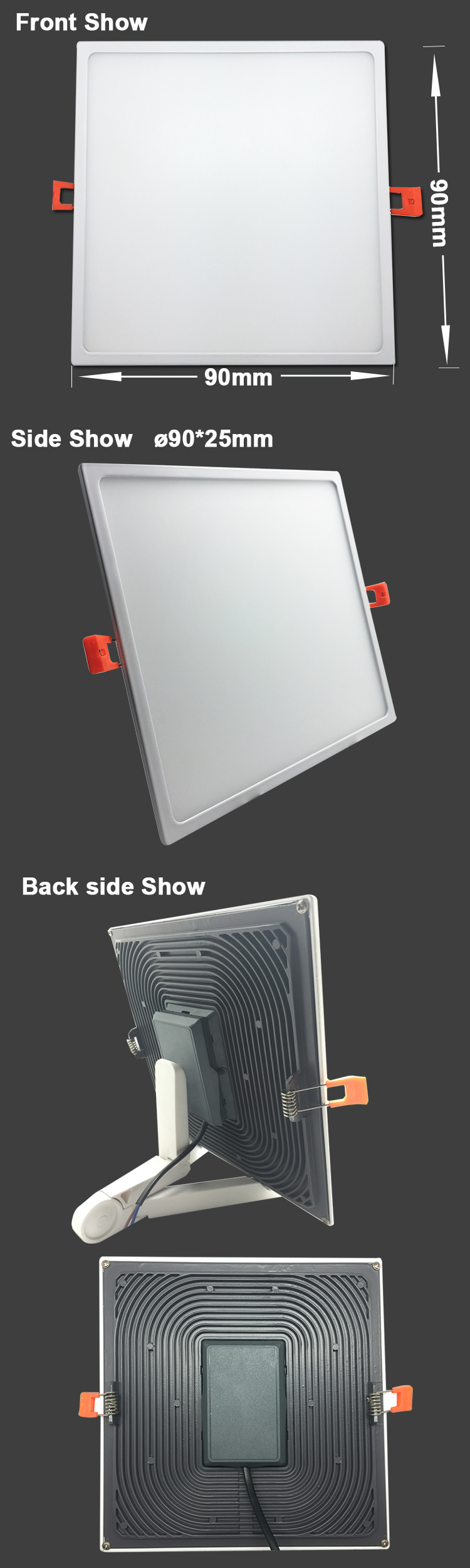 color temperature adjustable led slim panel light 8w 16w 22w led surface panel light