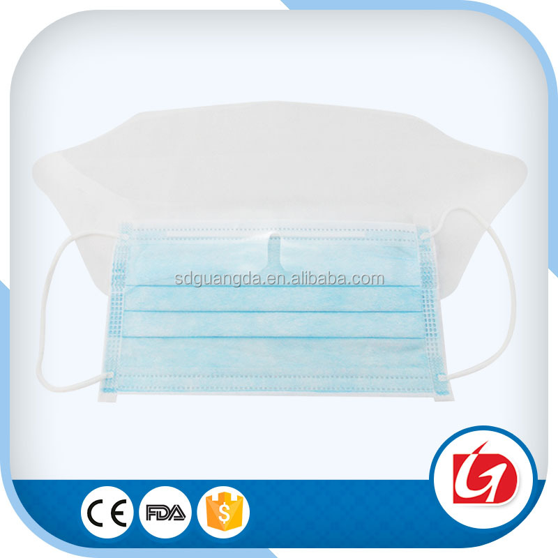 Disposable Blue Surgical Face Masks Tie on with Eye Shield