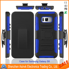 Armor Holster Defender Full Body Protective Hybrid Case Cover with Belt Clip for Samsung Galaxy S8