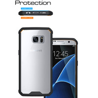 Transparent silicon bumper cell phone case for samsung galaxy note 5