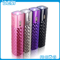 on sale for 2016 ! gift lipstick 2600mah power bank for mobile phones