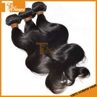 Promotional Hairpiece for African Americans Natural Color Black Remy Hair 3pcs/ Set 18 inch 7A Virgin Peruvian Hair Extension