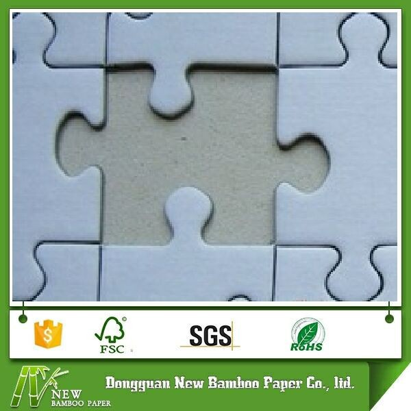 Dongguan factory laminated grey board puzzel sheet paper