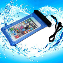 Hot Sale PVC beach waterproof bag for iphone 6 plus with neck strap