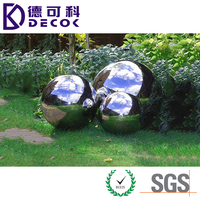 450mm 600mm Large Hollow Stainless Steel Chrome Gazing Ball for Sale
