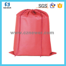 High quality eco mesh drawstring shoe bag and backpack