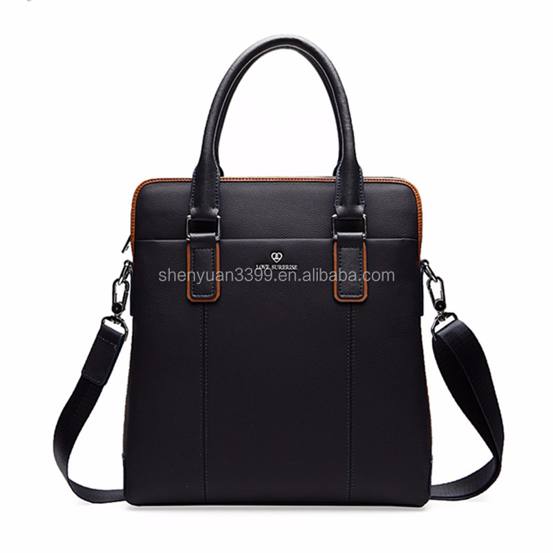 2016 Alibaba China leather briefcases men,leather shoulder messenger bag,high quality tote bags for businese men