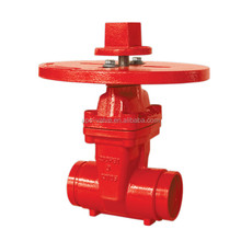 FM Approved UL listed 200psi BRS Grooved gate Valve for Fire protection