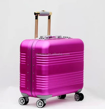 total aluminum trolley case luggage