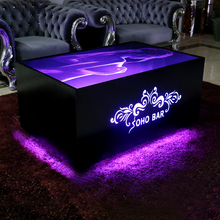 Commercial wedding square led metal cocktail cast iron bar tables