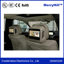 WIFI 3G Android Headrest 7/8/10/12/15/17 inch Touch Screen Car Monitor With RJ45 Ethernet Port
