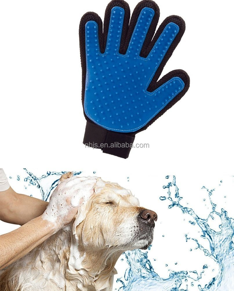 Dog Grooming Glove Brush, Deshedding Tool, For Long and Short Hair Grooming of Dogs