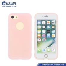 2018 Candy color PC + transparent TPU 2 in 1 combo case for iPhone 7