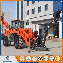 Mini farmland machine towable 3 point hitch backhoe