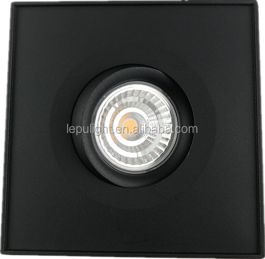 0-100% dimming surface led cob downlight with lens reflector dim to warm high cri 93