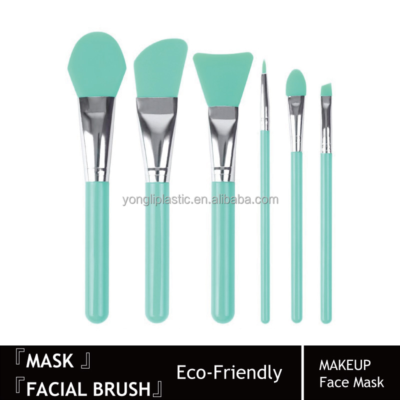 Cosmetic Brush Set of 6 Face Mask Brush Set Silicone Make Up Brushes