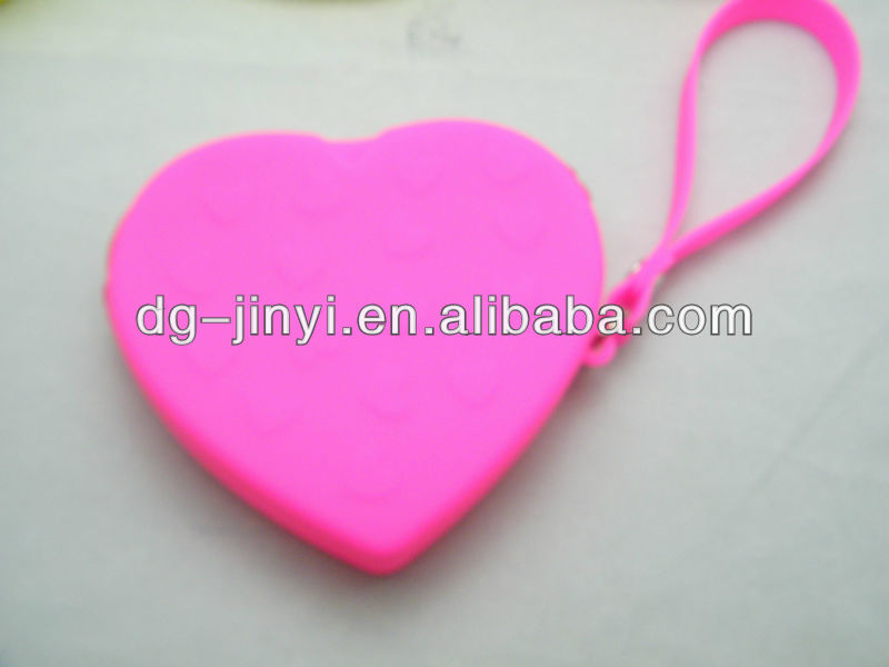 New arrive heart shape silicone shopping bag for promotional gifts
