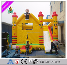 Hot sale custom-made combo inflatable bouncer with slide for kids game
