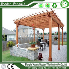 Good quality promotional price wooden pergola used gazebo for sale