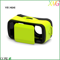 Mini size 3d vr glasses virtual reality mini vr box for samsung galaxy with bluetooth remote control