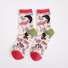 lady knitted cotton fancy woman sock for wholesale
