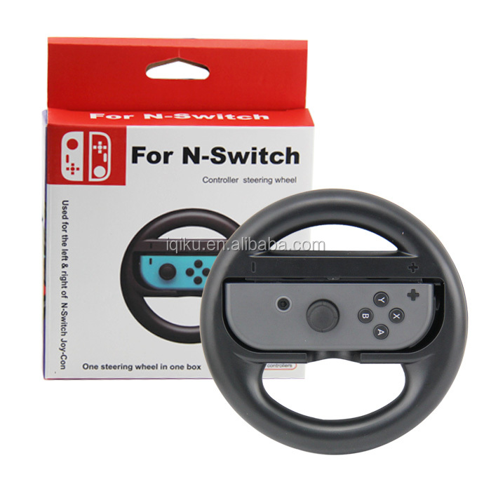 2017 Trending Products Racing Steering Wheel Handle Controller Grips For Nintendo Switch Joy-Con Black