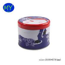 2017 New food grade round Valentine's Day tin box packing for gift with competitive price