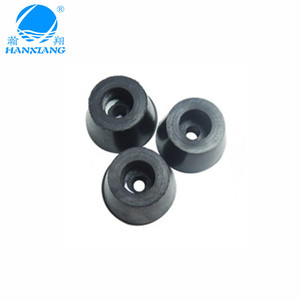 Wholesale black cone anti-slip rubber feet for equipment with ISO certificate